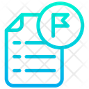 Flag Document File Icon