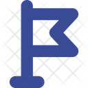 Finish Flag Here Icon