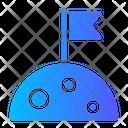 Flag Moon Icon