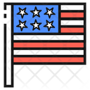 Flag Of The United States United States America Icon