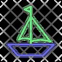 Flag On Boat Boat Cruise Icon