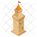 Flag Pillar Flag Fortress Castle Tower Icon