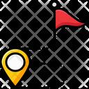 Flag Route Icon