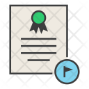 Flagged Document Important Icon