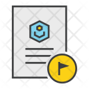 Flagged Important Document Icon