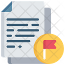 Flagged Document Important Note Icon