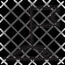 Flagpole Flag Emblem Icon