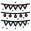 Flags Garlands Birthday Icon