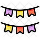 Decoration Flags Celebration Icon