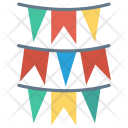 Flags Bunting Celebration Icon