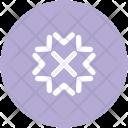 Flake Snowflake Winter Icon