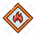 Flamable Flamable Product Flamable Delivery Icon