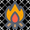 Bonfire Campfire Camping Icon