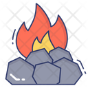 Flame Rock Fire Icon