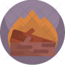 Thanksgiving Wood Fire Icon