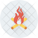 Flame Flambeau Burn Icon