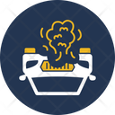 Flame From Engine Accident Car Icon