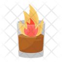 Flaming Drink Hot Drink Juice Icon