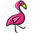 Flamingo Fowl Bird Icon
