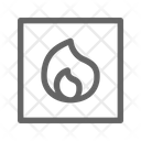 Flammable Danger Caution Icon