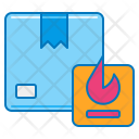 Flammable Parcel Icon