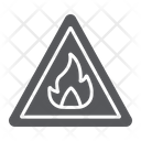 Flammable Sign Warning Icon