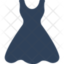 Flare Dress Frock Party Dress Icon