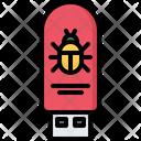 Flash Drive Virus Icon