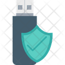 Flash Drive Usb Protection Shield Icon