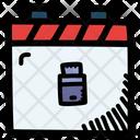 Flash Drive Calendar Date Icon