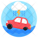 Flash Flood Disaster Catastrophe Icon