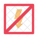 Flash Off Stop Flash Icon