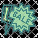 Flash Sale Discount Promotion Icon
