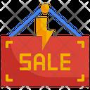 Flash Sale Sale Board Sale Icon