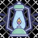 Flashing Vintage Lantern Halloween Lantern Icon