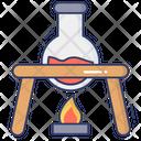Flask Burning Icon