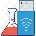 Flask With Flash Usb Tester Conical Flask Icon