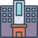 Flat Building House Icon