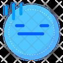 Flat Face Mood Icon