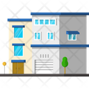 Flat Apartment House Icon