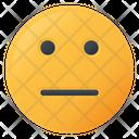 Flat Face Emoji Icon