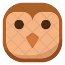 Flat Face Owl Icon