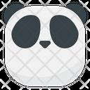 Flat Face Panda Emoji Icon