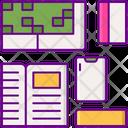Flat Lay Card Lay Icon