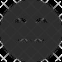 Flat Smile Px Icon