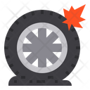 Flat Tire Tire Service Icon