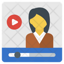 Flat Video Streaming Icon