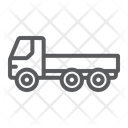 Flatbed Truck Automobile Icon