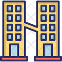 Flats Trade Center Architecture Icon