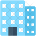 Skyscraper Flats Office Icon